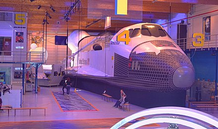 Life-size Replica of the NASA Space Shuttle at the Euro Space Center Belgium Replica of the NASA Space Shuttle.jpg