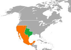 Map Of Texas Mexico.Mexico Republic Of Texas Relations Wikipedia