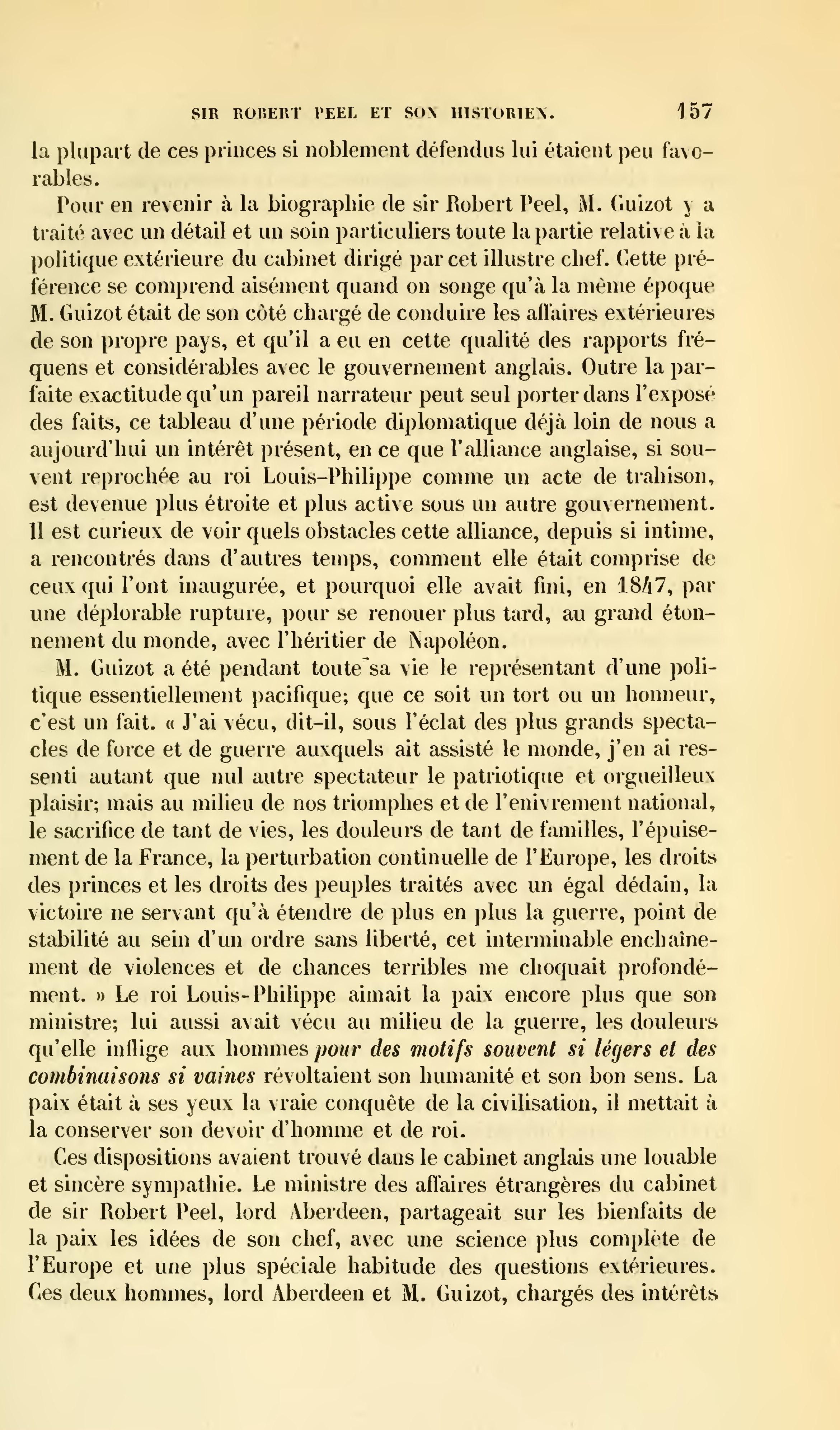 Page revue des deux mondes 1857 tome - Cabinet du ministre des affaires etrangeres ...