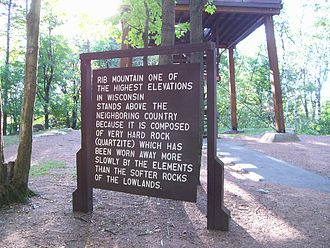 Rib Mountain State Park - Image: Rib Mountain State Park Wisconsin Sign Tower