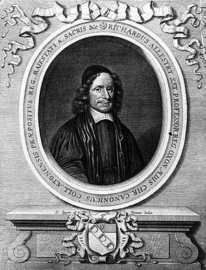 Richard Allestree - Richard Allestree, 1684 engraving by David Loggan.