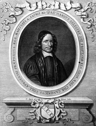 Richard Allestree - Richard Allestree, 1684 engraving by David Loggan.