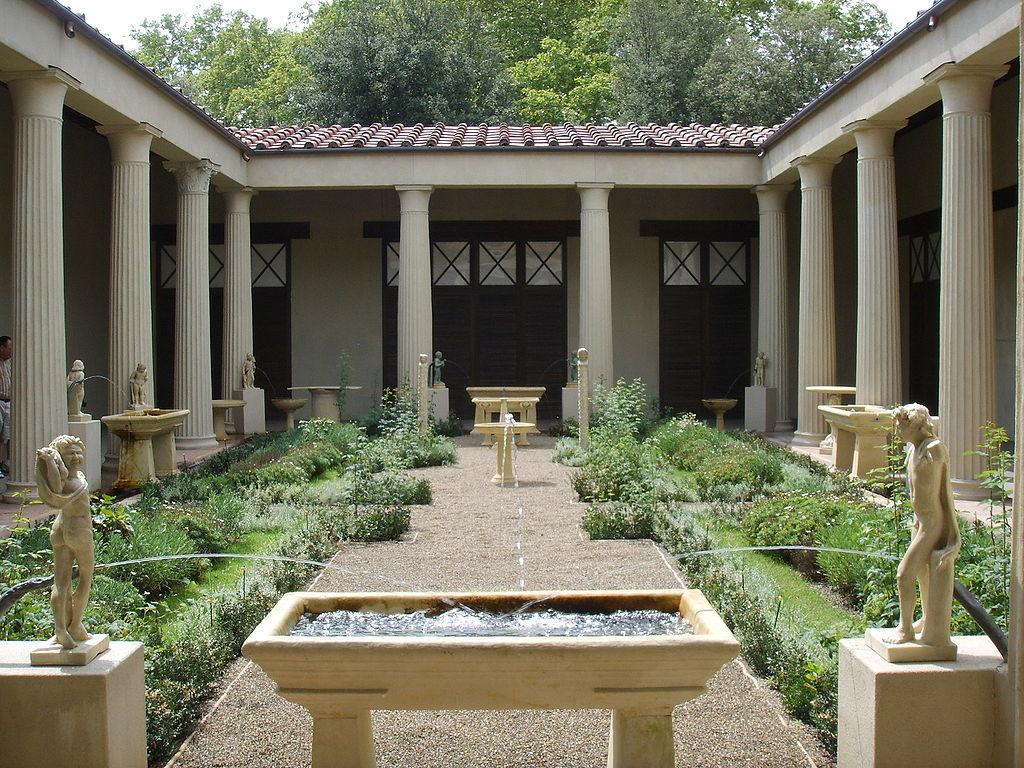 File ricostruzione del giardino della casa dei vetii di for Foto di decorazione della casa del cottage