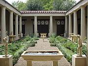 Ricostruzione del giardino della casa dei vetii di pompei (mostra al giardino di boboli, 2007) 01