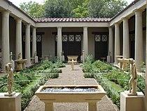 Ricostruzione del giardino della casa dei vetii di pompei (mostra al giardino di boboli, 2007) 01.JPG