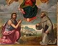 Ridolfo del ghirlandaio (attr.), maria assunta tra i ss. giovanni battista e francesco, 1524 ca. 03.jpg