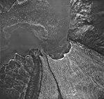Riggs Glacier, tidewater glacier terminus and rock striations, August 25, 1968 (GLACIERS 5853).jpg