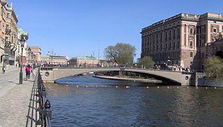 bridge between Helgeandsholmen and Norrmalm in Stockholm, Sweden