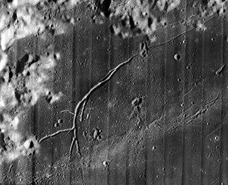Calippus (crater) - Lunar Orbiter 5 image of Rima Calippus