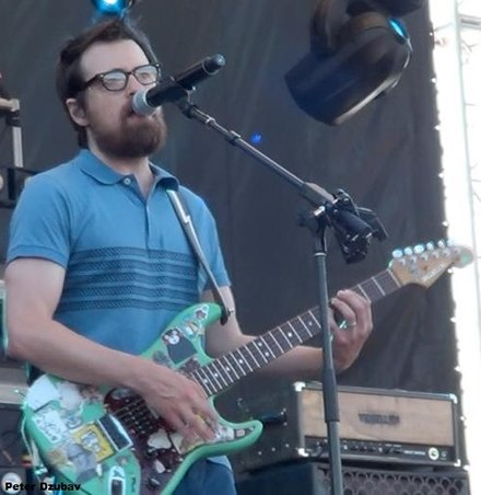 Rivers Cuomo performing with Weezer at the Gathering of the Vibes in Bridgeport, Connecticut in 2015. Rivers Cuomo Performing in 2015 - Photo by Peter Dzubay.jpg