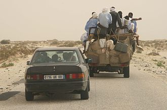 Mauritania - Road from Nouakchott to the Mauritanian–Senegalese border