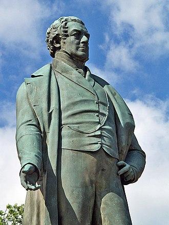 Edward Hodges Baily - Image: Robert Peel statue, Bury