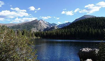 Rocky Mountain National Park in September 2011 - Bear Lake looking toward Glacier Gorge.JPG