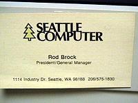 Carte De Visite Rod Brock Prsident SCP