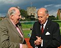 Roger Bannister and John Landy at Iffley Road on the 50th anniversary of the four minute mile 6 May 2004.jpg