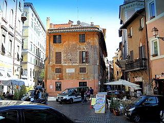 Rome, Trastevere Piazza Trilussa
