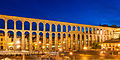 Roman Aqueduct Segovia night 2012 Spain.jpg