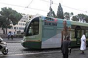 Roman tram in Largo di Torre Argentina