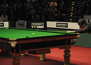 Glossary of cue sports terms - A jump shot performed by Ronnie O'Sullivan.