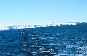 Ice shelf - Panorama of Ross Ice Shelf