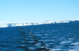 Ross Ice Shelf - Ross Ice Shelf edge in 1997