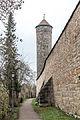 Rothenburg ob der Tauber, Stadtbefestigung, Faulturm, Nordseite-20151230-001.jpg