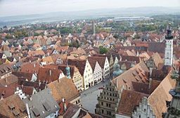 Rothenburg från luften.