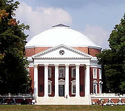 The University of Virginia, designed by Thomas Jefferson, is one of 19 American UNESCO World Heritage Sites