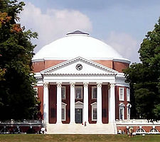 The University of Virginia, designed and founded by Thomas Jefferson, is one of 19 World Heritage Sites in the United States and one of many highly regarded universities supported by the state level of government.