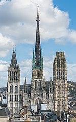 Cattedrale di Rouen vista da Gros Horloge 140215 4.jpg