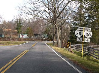 Route 311 (Virginia–West Virginia) - At the southern terminus of SR 159 in Crows