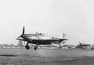 René Mouchotte - Hurricanes of 615 Squadron land at RAF Northolt in November 1940