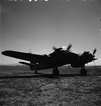 John Braham (RAF officer) - Beaufighter night fighter VIF of No. 255 Squadron RAF running up its engines c. 1943. The radar antennas are visible.