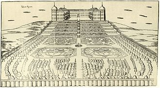 Uppsala Castle - Uppsala Castle and gardens 1675 (showing the opposite side of the building)