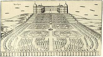 University of Uppsala Botanical Garden - Uppsala Castle and gardens, 1675