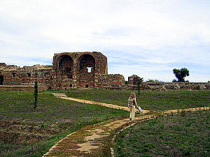 Roman ruins of São Cucufate - The Roman ruins of São Cucufate, with the principal elevation of the villa Áulica