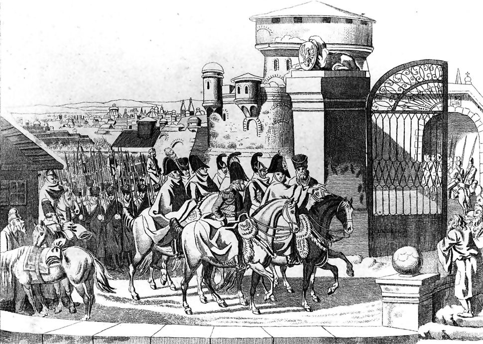Russian army entering Warsaw in 1813