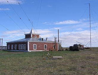 Anadyrsky District - An unusually low lighthouse on the tip of the Russkaya Koshka