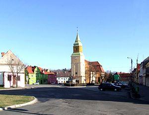 Jasień, Lubusz Voivodeship - Town square