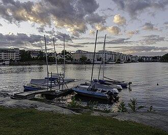 Scouterna - The jetty of Hammarby Sjöscoutkår in Hammarby, Stockholm.