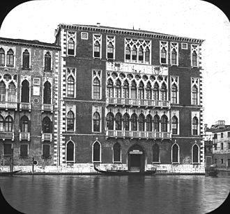 Ca' Foscari - Ca' Foscari, view from across the canal, Venice, Italy. Brooklyn Museum Archives, Goodyear Archival Collection