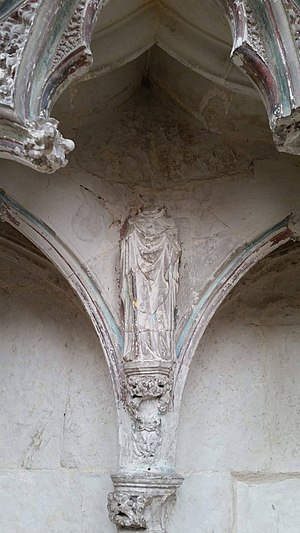 Headless statue in the Lady Chapel vandalised in the English reformation. S95ReformationDestructionEly.jpg