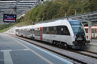 Szybka Kolej Miejska (Tricity) - Pesa Atribo leaving Gdańsk Brętowo station