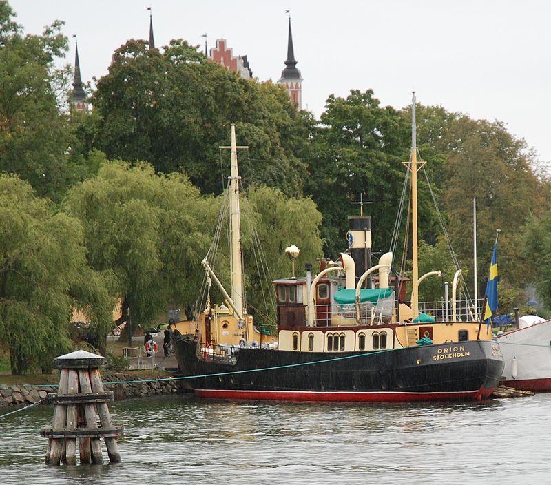 S/S Orion vid Skeppsholmen i Stockholm