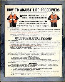 SS Stevens life preserver information placard.jpg