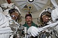 STS-125 Crew Members Pose for a Photo in the Airlock Prior to EVA3 (28075338552).jpg