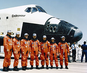 Kevin P. Chilton - Chilton, standing 2nd from left, with his STS-49 crewmates