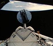 STS-51-I SYNCOM IV-4 deployment