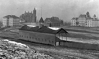 Syracuse Orange football - The Old Oval athletic field, Syracuse University, ca. 1898–1907.