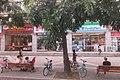 SZ 深圳 Shenzhen Bus 104 view 羅湖 Luohu 黃貝路 Huangbei Road sidewalk shops n benchs visitors June 2017 IX1 09.jpg